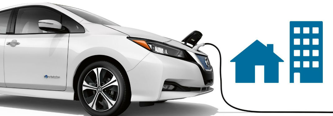 2018 Nissan LEAF getting charged