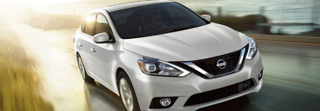 2019 Nissan Sentra driving on a road