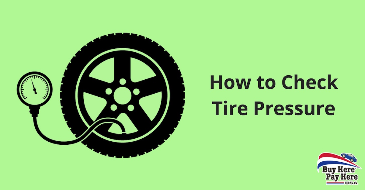 checking and inflating car vehicle tire pressure