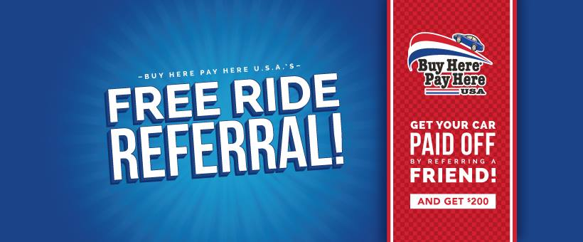Get $200 for Referring a Friend and a Chance to win The Free Ride!