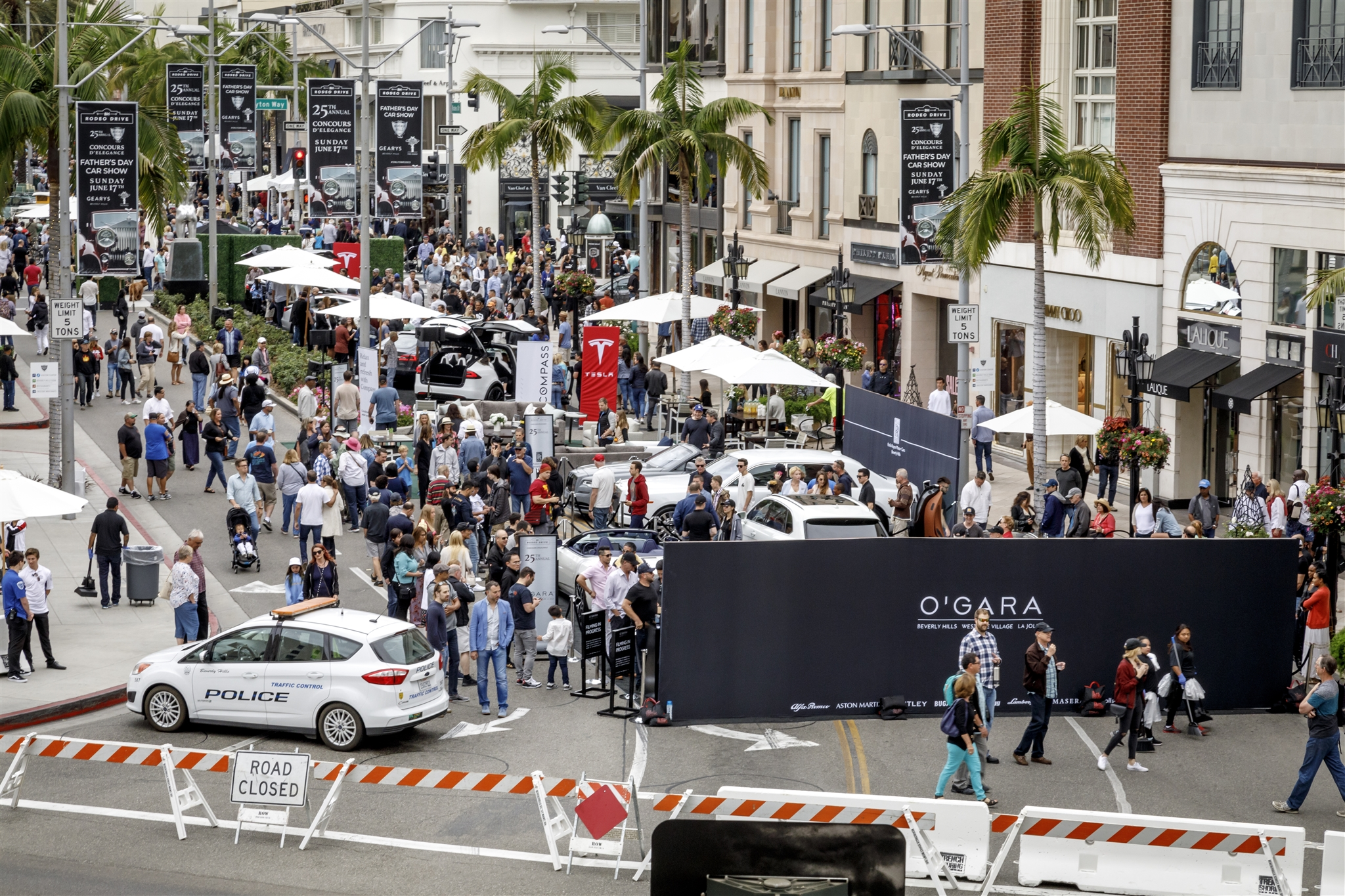 RODEO DRIVE CONCOURS DELEGANCE OGARA BEVERLY HILLS WORLD OF O - Beverly hills car show