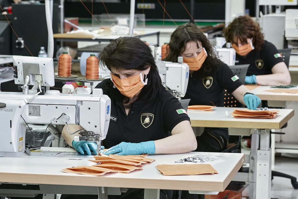 Automobili Lamborghini starts production of surgical masks and medical shields for use in Coronavirus pandemic