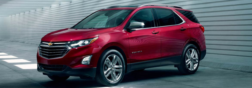 2018 Chevy Equinox parked in dimly lit garage