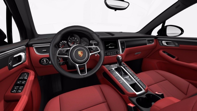 Available 2017 Porsche Macan interior leather options