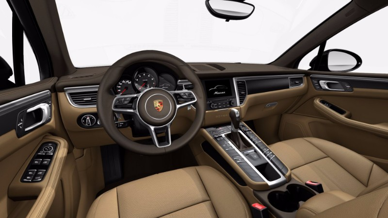 2017 porsche macan interior saddle brown luxor beige o loeber porsche. Black Bedroom Furniture Sets. Home Design Ideas