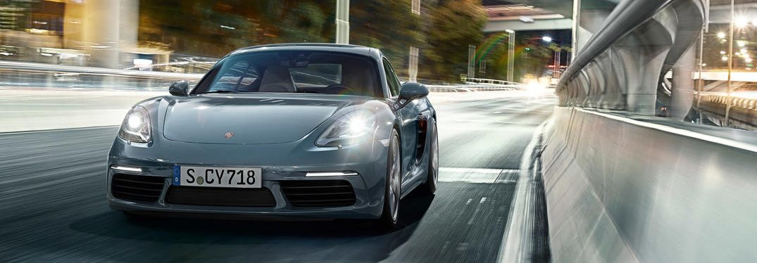 exterior front of the 2018 Porsche 718 Cayman