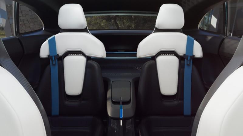 second row seating in the Porsche Mission E Cross Turismo Concept