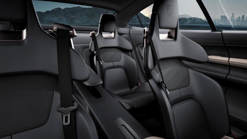 porsche taycan interior seating