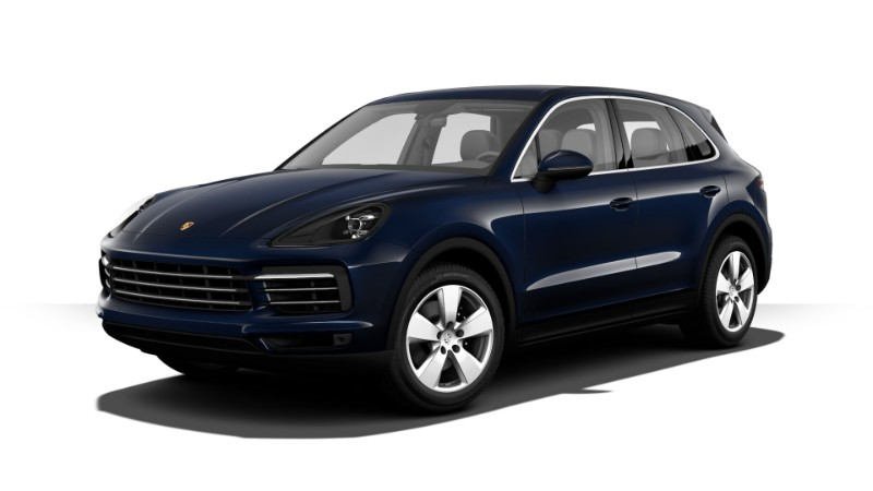 2019 Porsche Cayenne Moonlight Blue Metallic