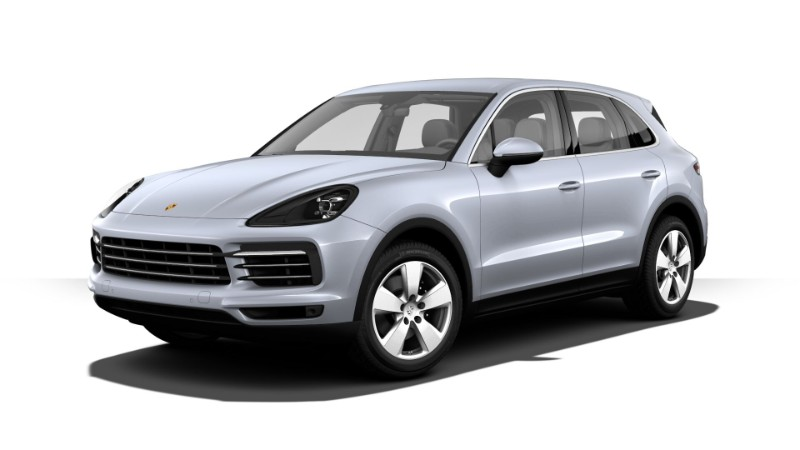 2019 Porsche Cayenne Rhodium Silver Metallic