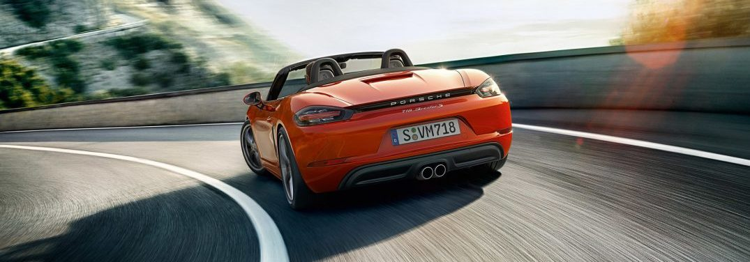 rear view of the porsche 718 boxster