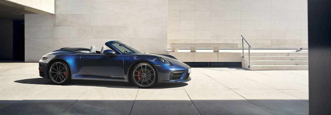 2020 Porsche 911 exterior front and passenger side profile