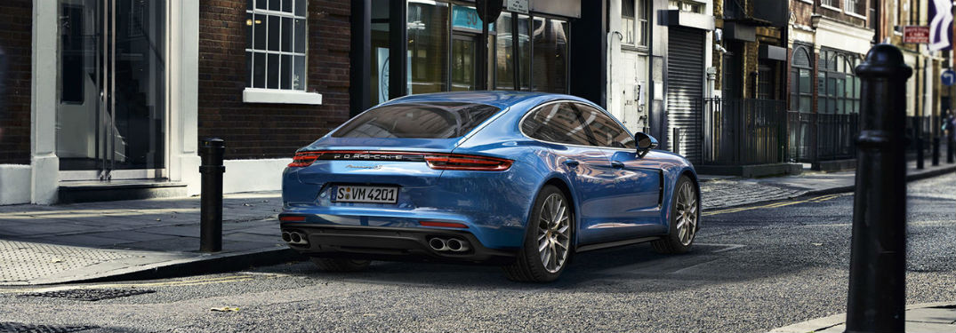 2019 Porsche Panamera exterior back fascia and passenger side