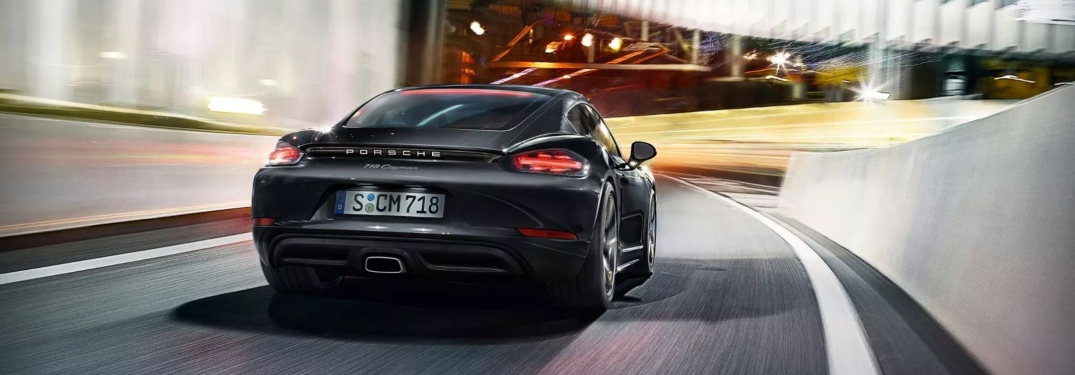 Porsche 718 Cayman entering a tunnel