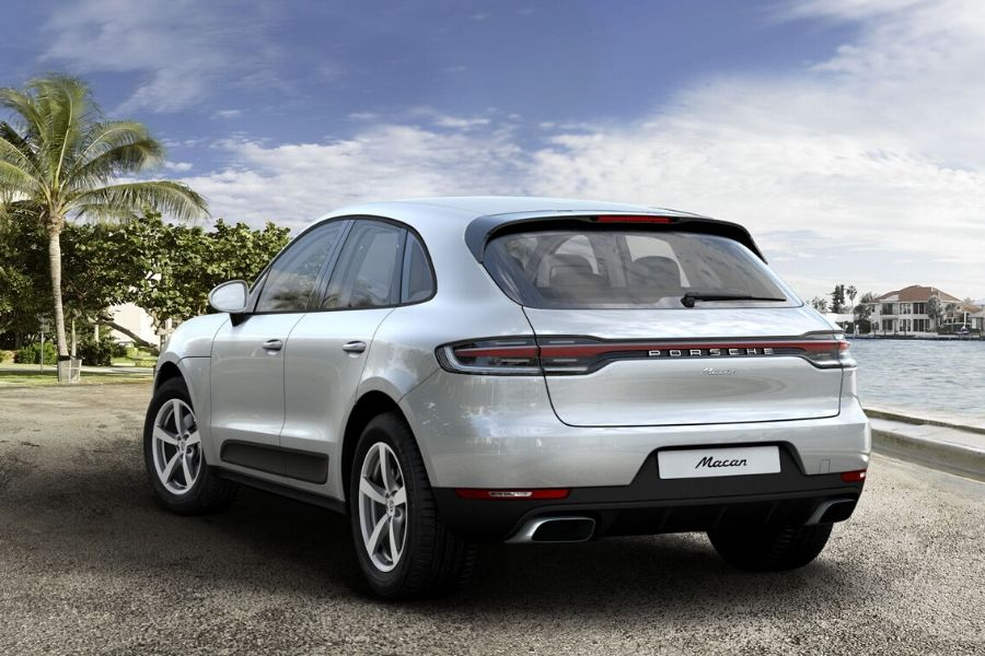 2020 Prosche Macan from behind