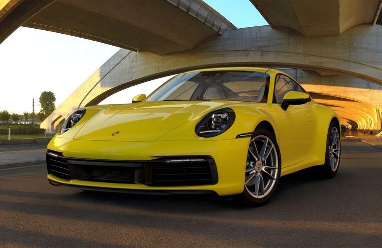 Racing Yellow 2019 Porsche 911 Carrera