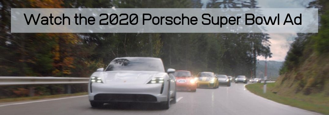 2020 Porsche cars drive in The Heist commercial with Watch the 2020 Porsche Super Bowl Ad