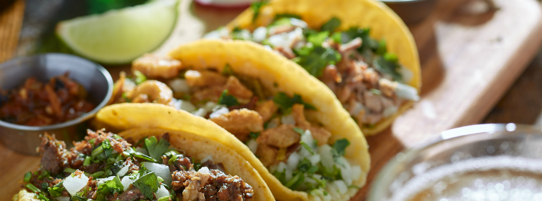 Mexican Street Tacos in Yellow Corn Shells