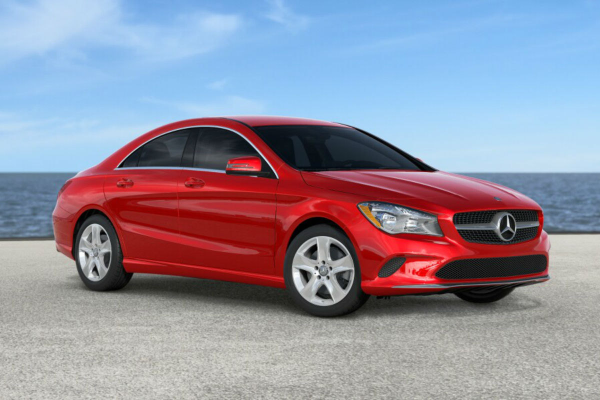 2018 Mercedes-Benz CLA in Jupiter Red