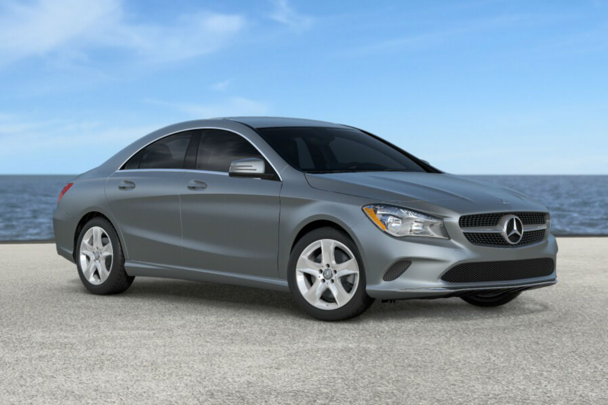 2018 Mercedes-Benz CLA in Polar Silver Magno