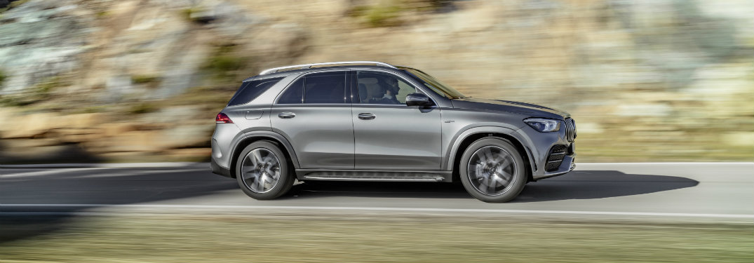 right side view of silver mercedes-benz gle 450
