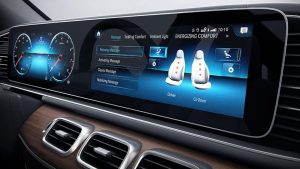 seat massage monitor in mercedes-benz monitor