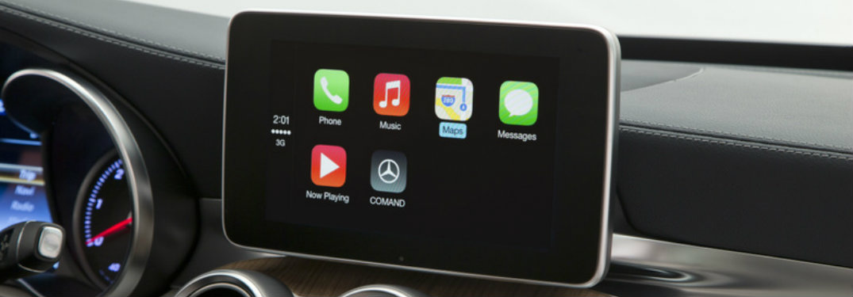 mercedes benz apple carplay monitor