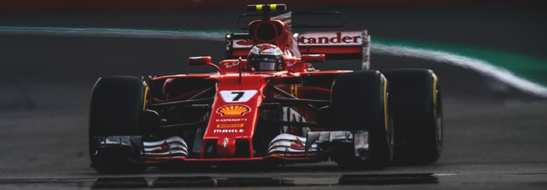 Kimi Raikkonen driving in the 2017 Mexican Grand Prix