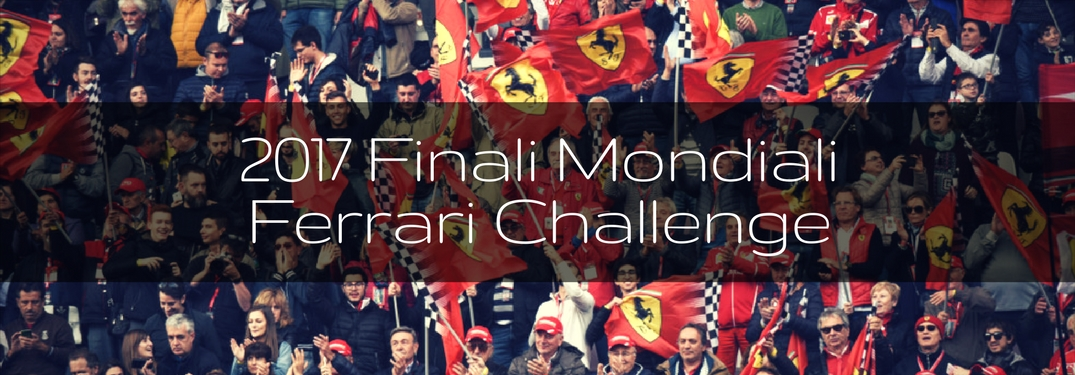 2017 Finali Mondiali Ferrari Challenge over a crowd of Ferrari fans with flags