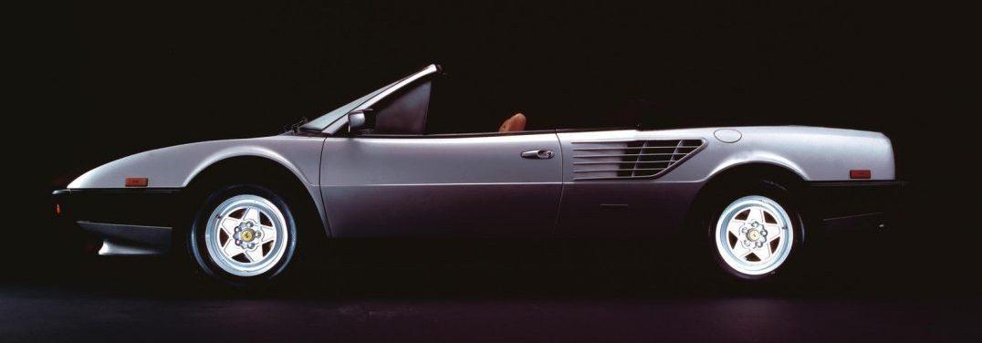 profile view of a classic Ferrari vehicle