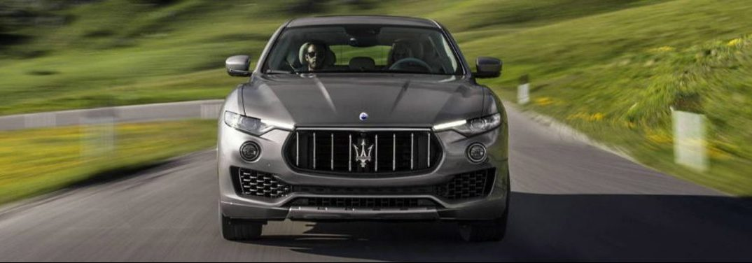 front view of the 2018 Maserati Levante driving in the country