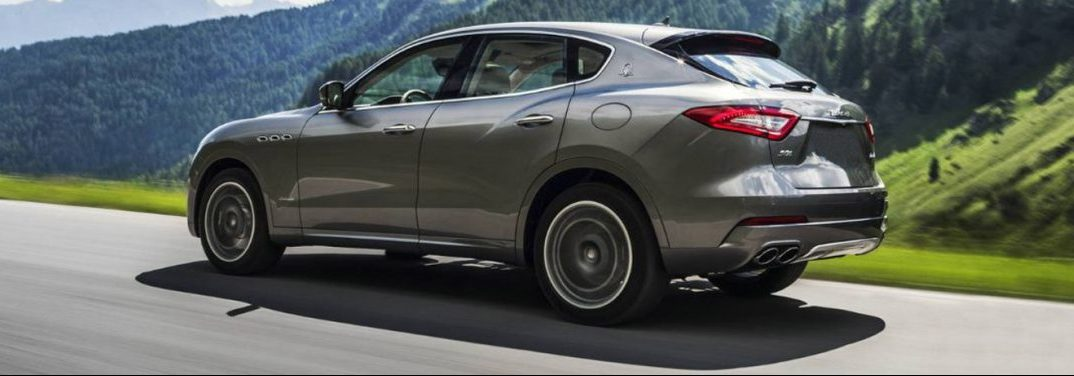 2018 Maserati Levante driving on a country road