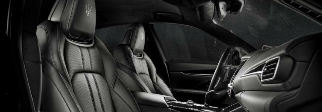 view of the interior front of the 2018 Maserati Levante