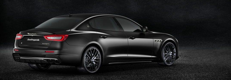 rear view of the 2018 maserati quattroporte nerissimo edition