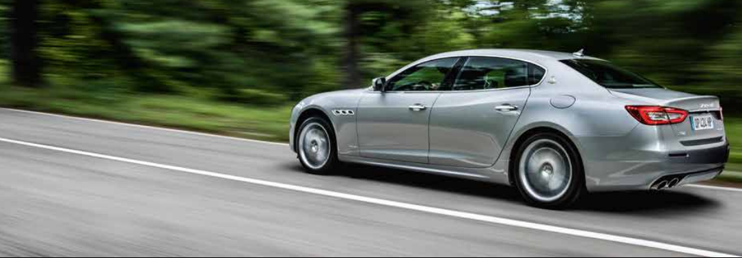 2018 Maserati Quattroporte driving on a country road