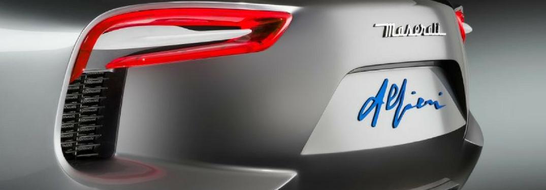 rear branding on the Maserati Alfieri concept car