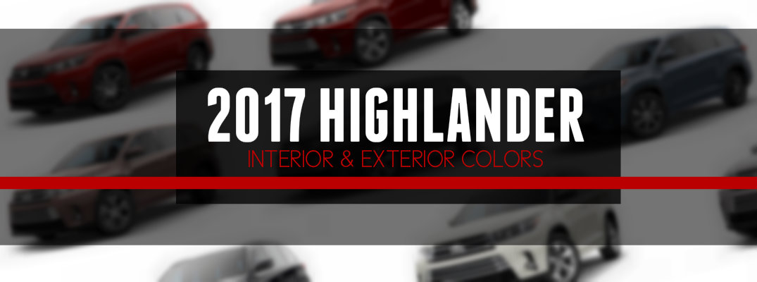 2017 Highlander Interior Color Options