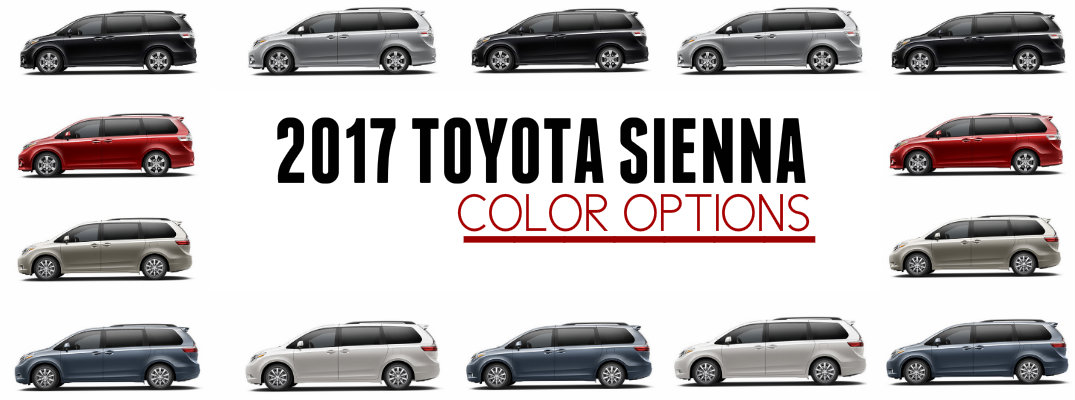 2017 Toyota Sienna Exterior Color Options