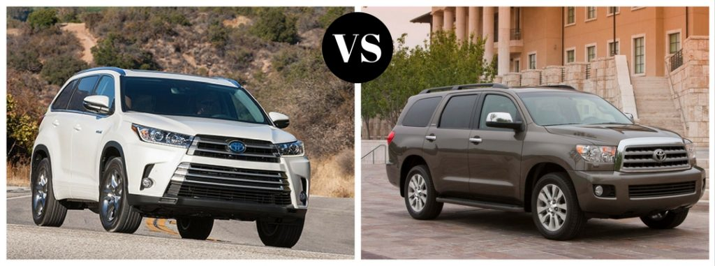 what 39 s the difference between the toyota highlander and sequoia. Black Bedroom Furniture Sets. Home Design Ideas