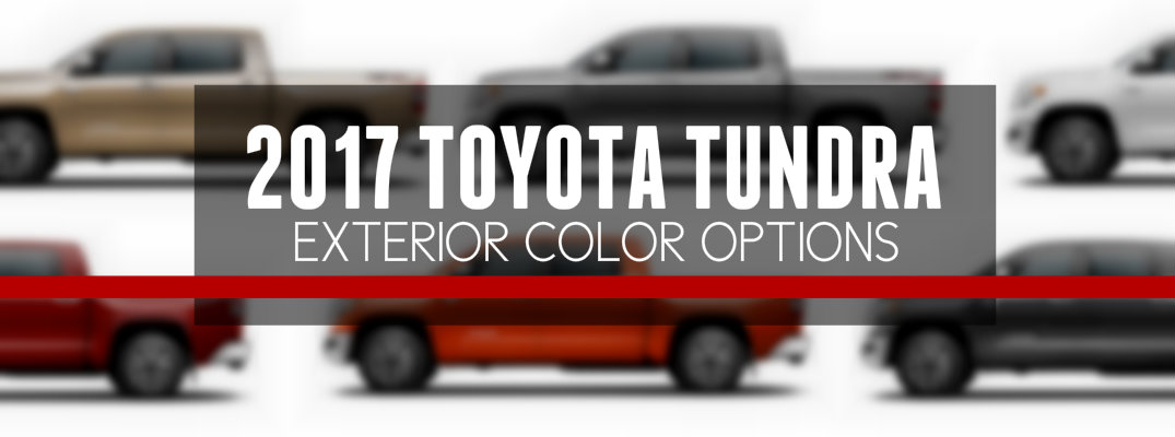 2017 Toyota Tundra Exterior Paint Colors