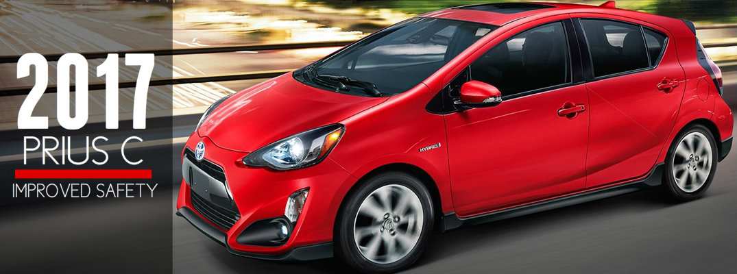 2017 Toyota Prius c Available Safety Features