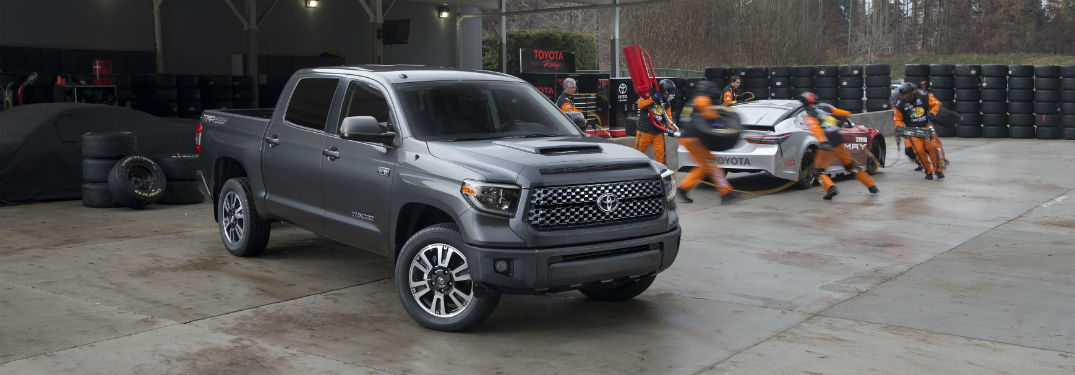 2018 Toyota Tundra parked in a warhouse