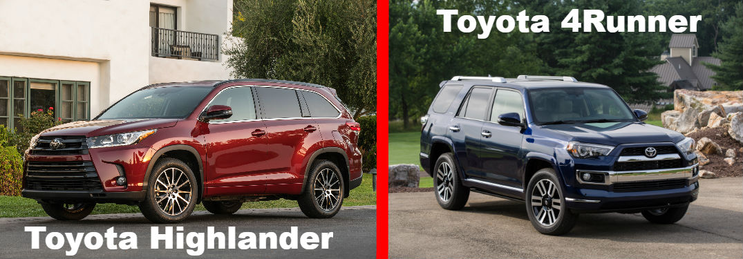 Toyota Highlander Vs Toyota 4Runner >> Toyota Highlander Vs Toyota 4runner Lexington Toyota
