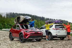 people using their 2018 toyota rav4 for camping and outdoor activity with cargo space and volume lexington ma_o