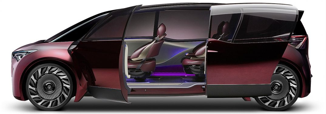 toyota fine comfort ride concept detailed with exterior styling and door opened_o