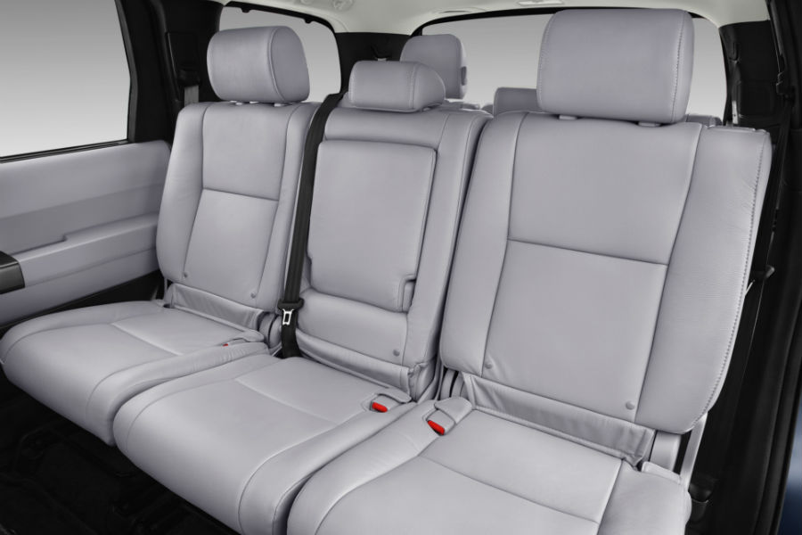 How Much Can I Fit in the 2018 Toyota Sequoia? » 2018-toyota-sequoia -limited-interior-showing-second-and-third-row-seating_o