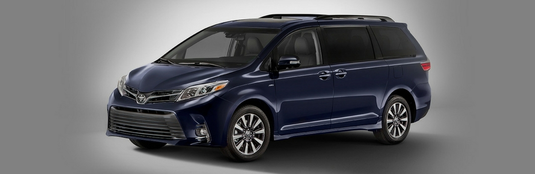 2018 Toyota Sienna parked in dark.