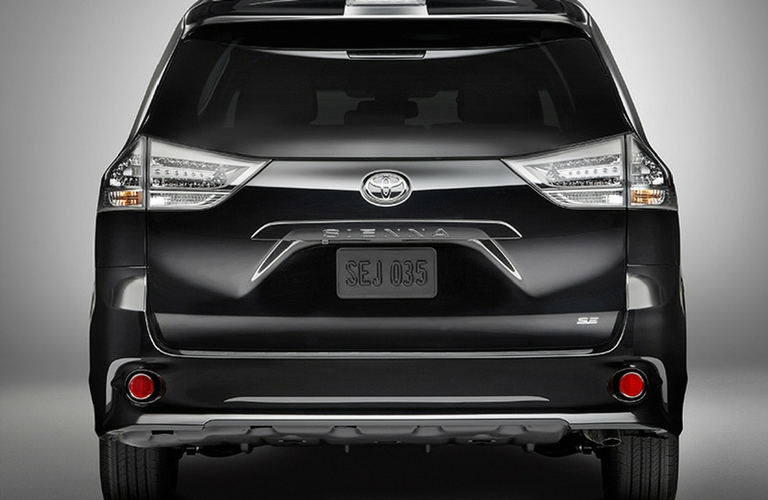 2018 Toyota Sienna rear view of vehicle.