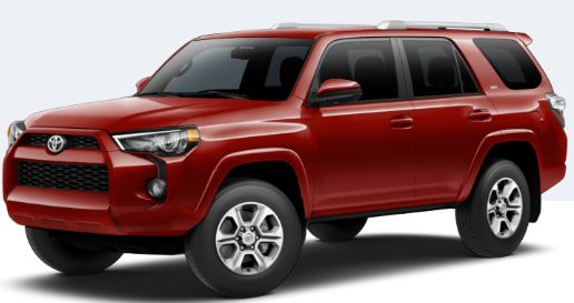 2018 Toyota 4Runner Barcelona Red Metallic