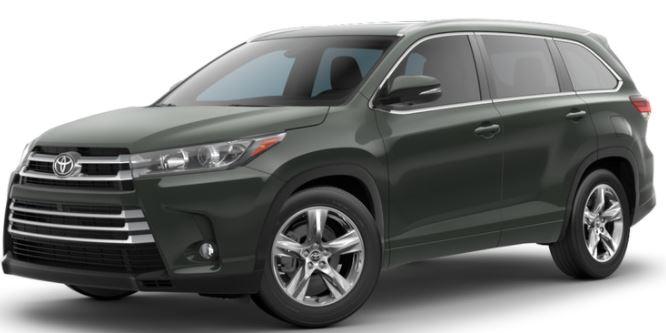 2018 Toyota Highlander Alumina Jade Metallic